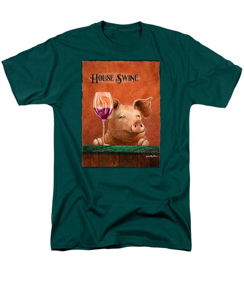House Swine... Men's T-Shirt  (Regular Fit) by Will Bullas