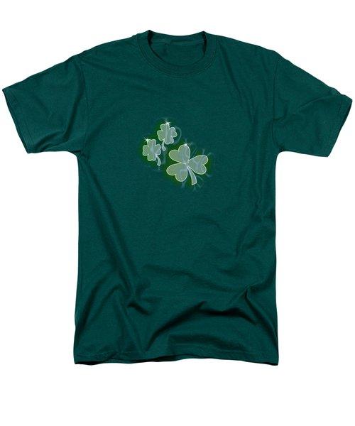 3 Shamrocks Men's T-Shirt  (Regular Fit) by Judy Hall-Folde