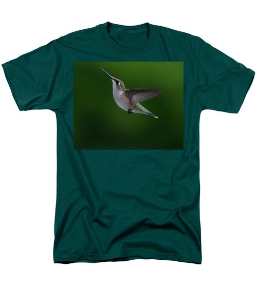 Female Ruby Throated Hummingbird Men's T-Shirt  (Regular Fit) by Brenda Jacobs