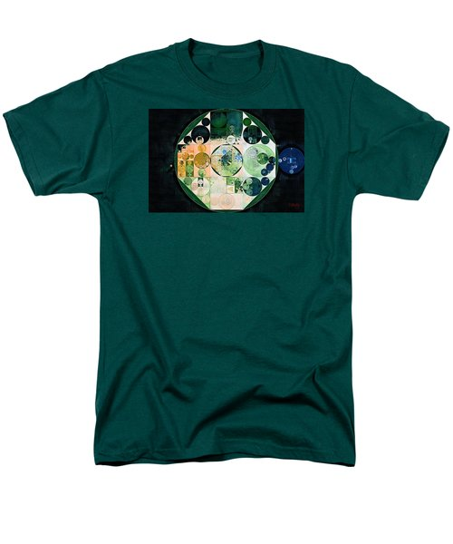 Men's T-Shirt  (Regular Fit) featuring the digital art Abstract Painting - Onyx by Vitaliy Gladkiy