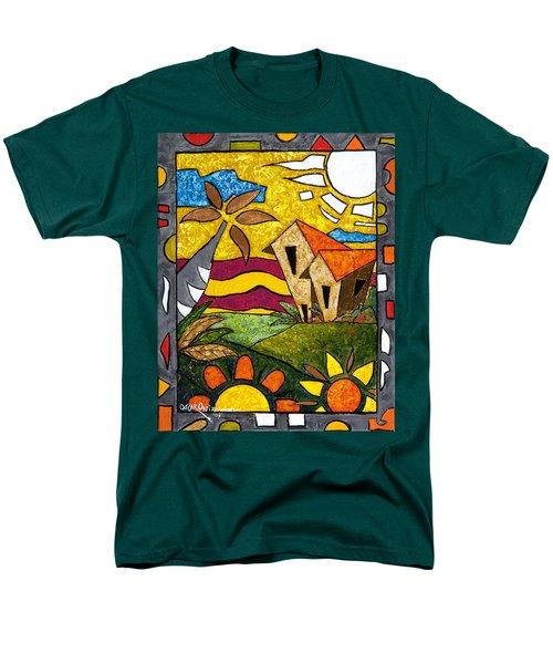 A Beautiful Day Men's T-Shirt  (Regular Fit) by Oscar Ortiz