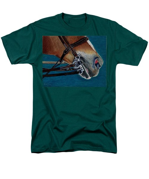 A Bit Of Control - Horse Bridle Painting Men's T-Shirt  (Regular Fit) by Patricia Barmatz