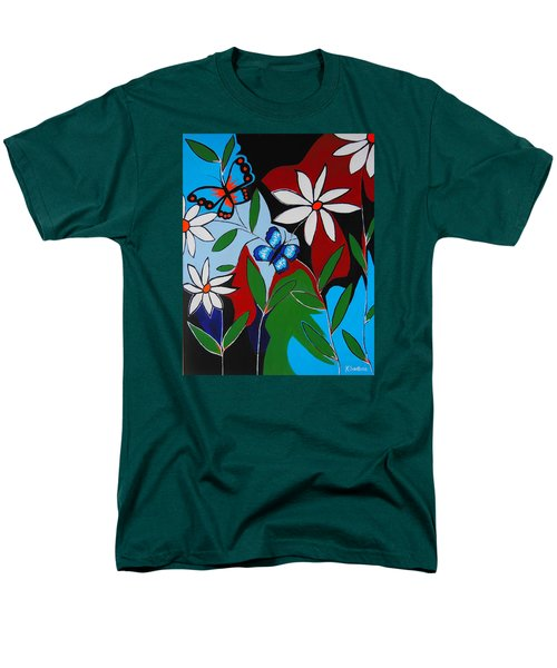 Men's T-Shirt  (Regular Fit) featuring the painting A Butterflies Paradise by Kathleen Sartoris