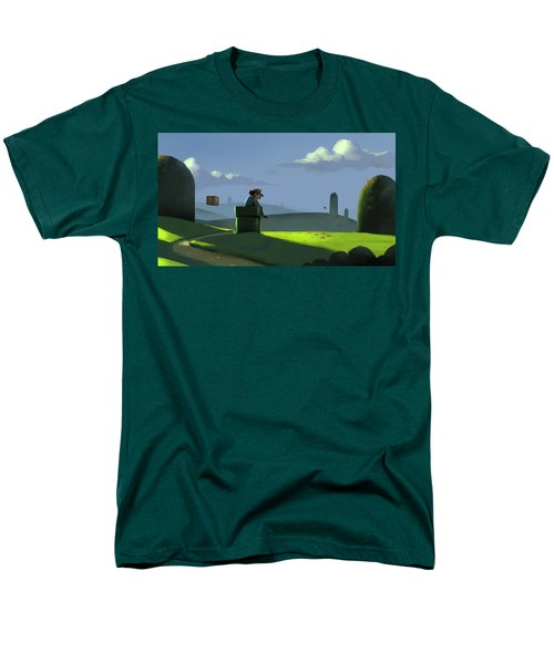 Men's T-Shirt  (Regular Fit) featuring the painting A Contemplative Plumber by Michael Myers