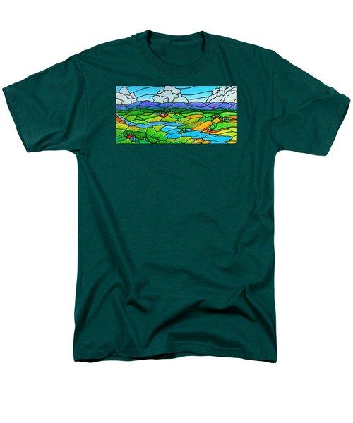 A River Runs Through It Men's T-Shirt  (Regular Fit) by Jim Harris