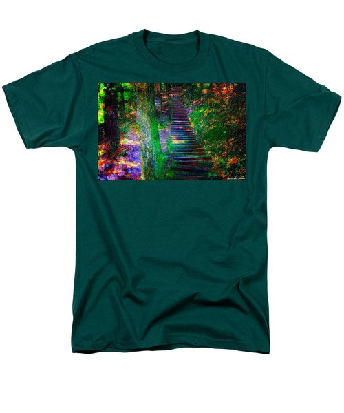 Men's T-Shirt  (Regular Fit) featuring the photograph A Trek by Iowan Stone-Flowers