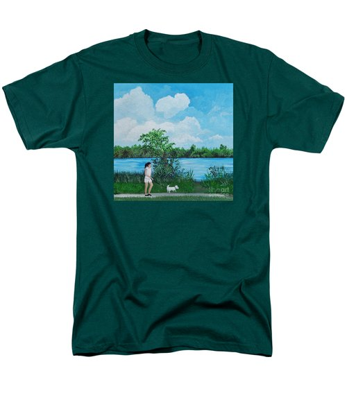 A Walk Along The River Men's T-Shirt  (Regular Fit) by Reb Frost