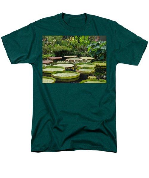 Men's T-Shirt  (Regular Fit) featuring the photograph A Water Garden by Byron Varvarigos