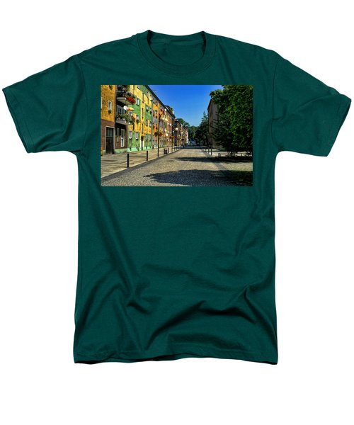 Men's T-Shirt  (Regular Fit) featuring the photograph Abandoned Street by Mariola Bitner
