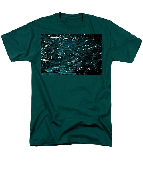 Men's T-Shirt  (Regular Fit) featuring the photograph Abstract Green Reflections by Gary Smith