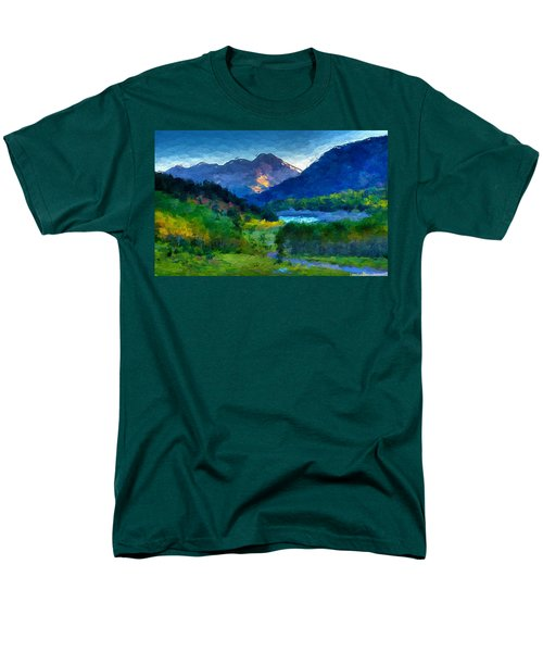 Abstract Mountain Vista  Men's T-Shirt  (Regular Fit) by Anthony Fishburne