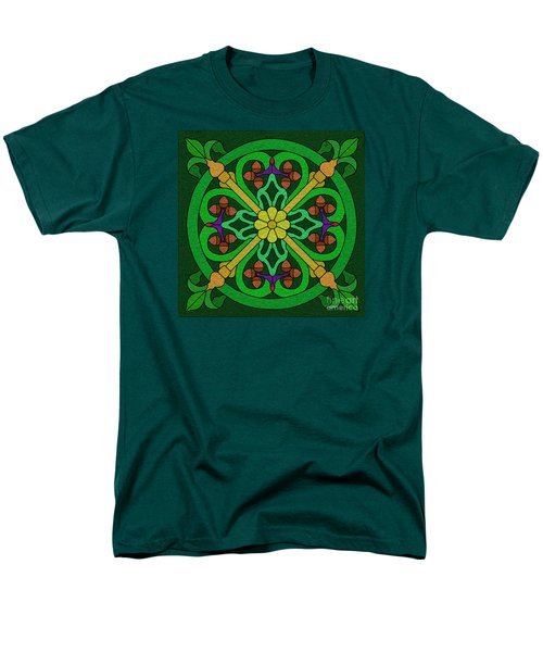 Acorns On Forest Green Men's T-Shirt  (Regular Fit) by Curtis Koontz