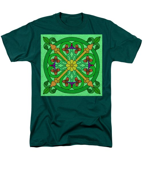 Acorns On Light Green Men's T-Shirt  (Regular Fit) by Curtis Koontz