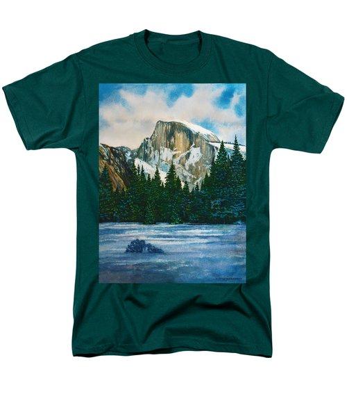 After The Snowfall, Yosemite Men's T-Shirt  (Regular Fit) by Douglas Castleman