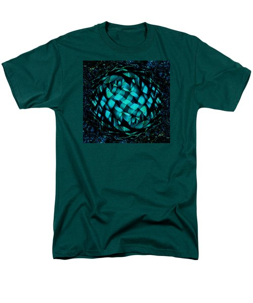 Agave Blues Abstract Men's T-Shirt  (Regular Fit) by Stephanie Grant