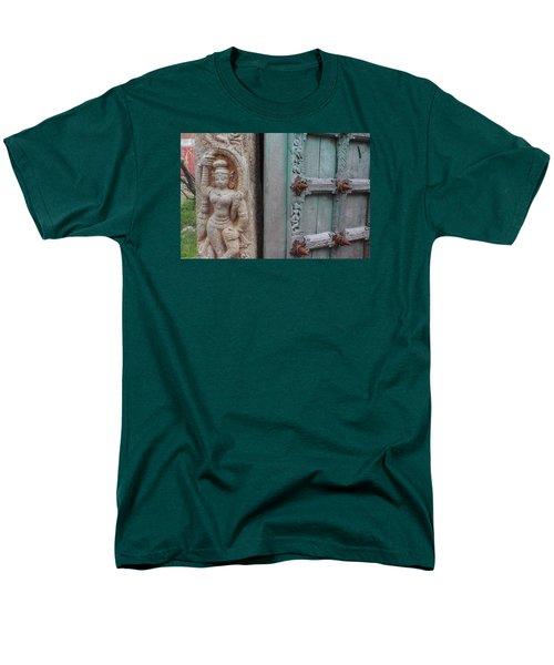 Amazing Door And Column, Fort Kochi Men's T-Shirt  (Regular Fit) by Jennifer Mazzucco
