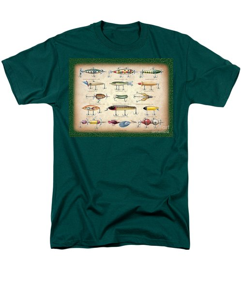 Men's T-Shirt  (Regular Fit) featuring the painting Antique Lures Panel by JQ Licensing