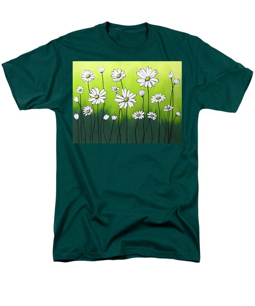 Men's T-Shirt  (Regular Fit) featuring the painting Daisy Crazy by Teresa Wing