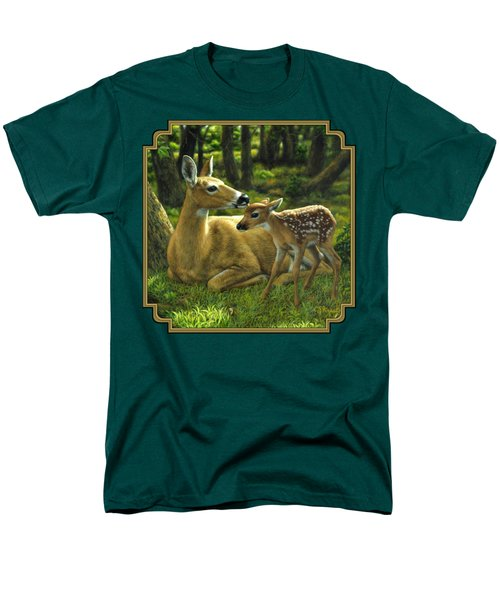 Whitetail Deer - First Spring Men's T-Shirt  (Regular Fit) by Crista Forest
