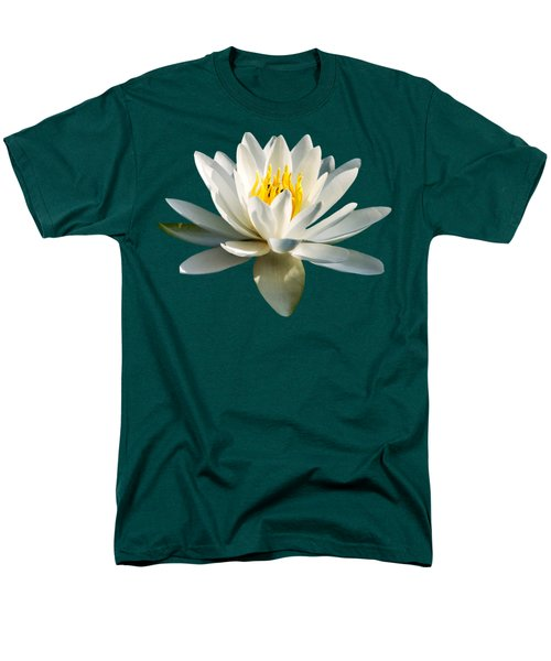 White Water Lily Men's T-Shirt  (Regular Fit) by Christina Rollo
