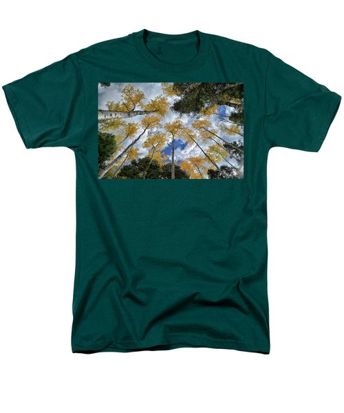 Aspens Reaching Men's T-Shirt  (Regular Fit) by Kevin Munro