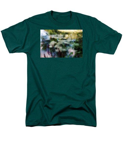Men's T-Shirt  (Regular Fit) featuring the photograph At Claude Monet's Water Garden 2 by Dubi Roman