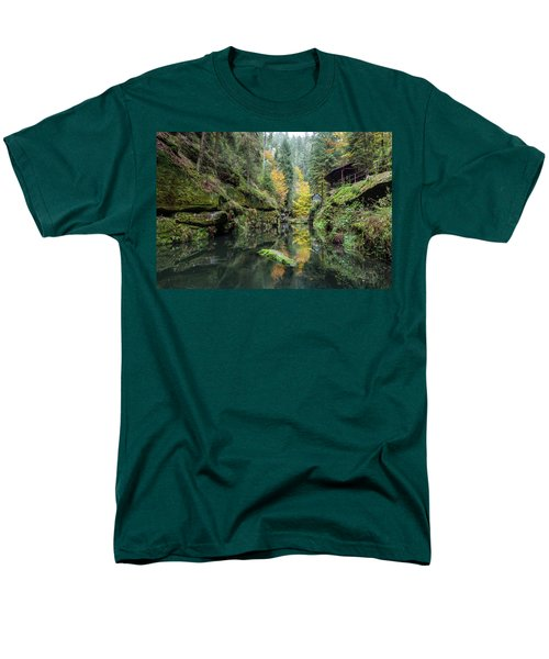 Autumn In The Kamnitz Gorge Men's T-Shirt  (Regular Fit) by Andreas Levi