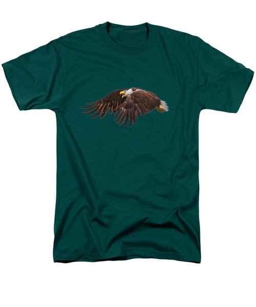 Bald Eagle  Men's T-Shirt  (Regular Fit) by Mark Andrew Thomas