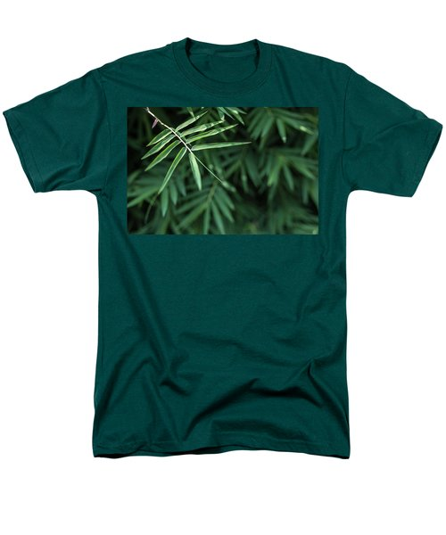 Bamboo Leaves Background Men's T-Shirt  (Regular Fit) by Jingjits Photography