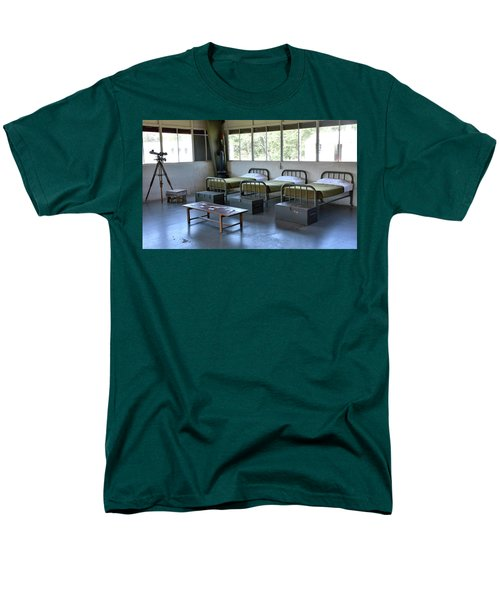 Men's T-Shirt  (Regular Fit) featuring the photograph Barrack Interior At Fort Miles - Delaware by Brendan Reals