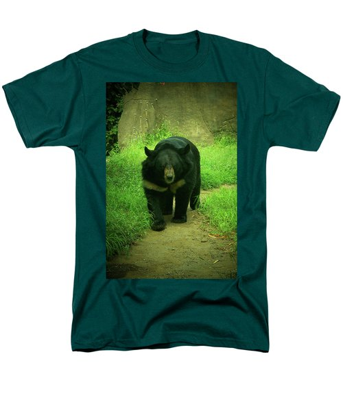 Bear On The Prowl Men's T-Shirt  (Regular Fit) by Trish Tritz
