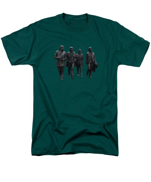 Men's T-Shirt  (Regular Fit) featuring the photograph Beatles Remembered  by Movie Poster Prints