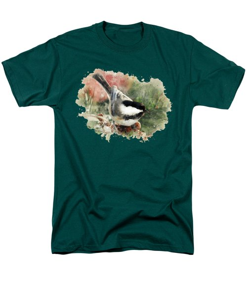 Beautiful Chickadee - Watercolor Art Men's T-Shirt  (Regular Fit) by Christina Rollo