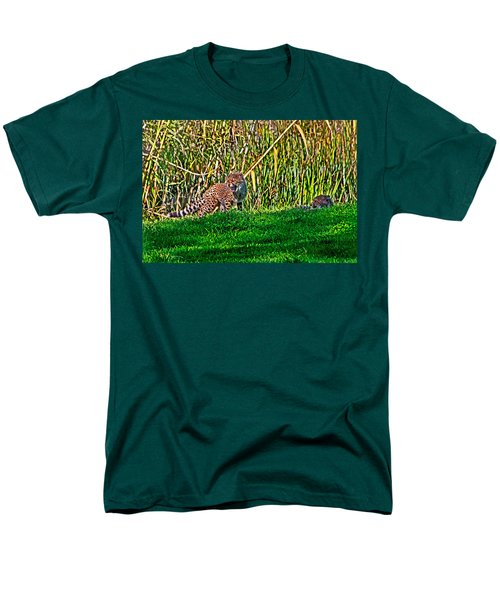 Big Yawn By Little Cub Men's T-Shirt  (Regular Fit) by Miroslava Jurcik