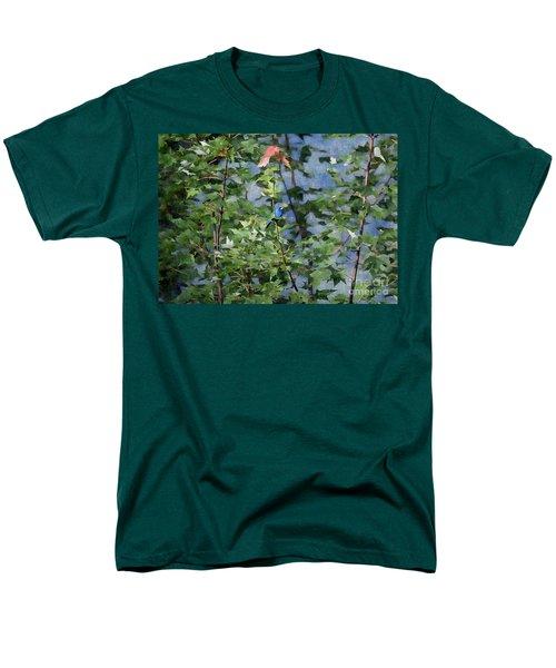 Blue Bird On Silk Men's T-Shirt  (Regular Fit) by Gary Smith