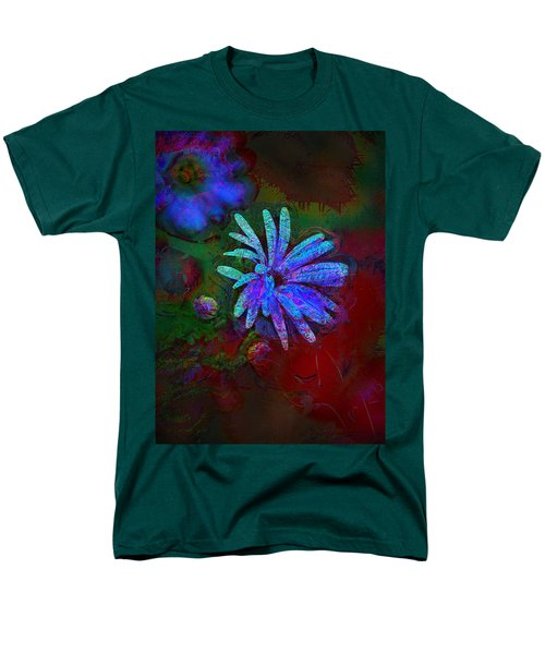 Men's T-Shirt  (Regular Fit) featuring the photograph Blue Daisy by Lori Seaman