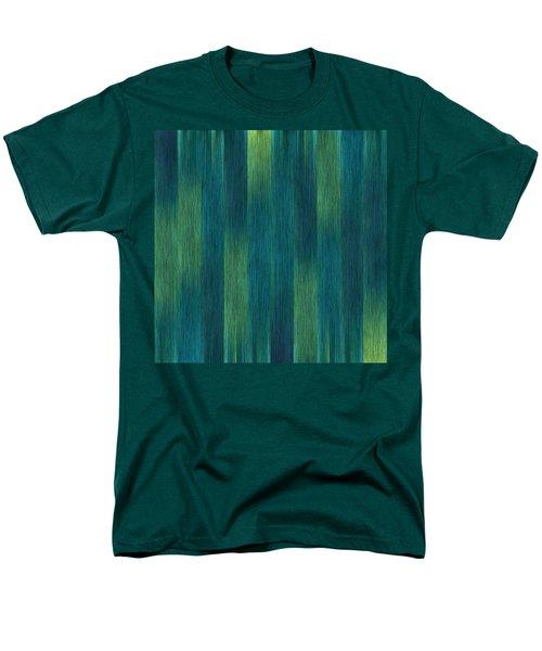 Blue Green Abstract 1 Men's T-Shirt  (Regular Fit) by Terri Harper
