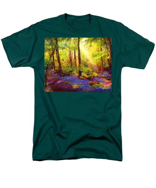 Men's T-Shirt  (Regular Fit) featuring the painting Bluebell Blessing by Jane Small