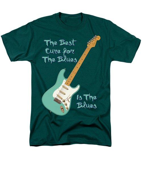 Blues Cure Seafoam Men's T-Shirt  (Regular Fit) by WB Johnston