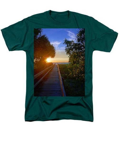 Sunset At The End Of The Boardwalk Men's T-Shirt  (Regular Fit) by Robb Stan