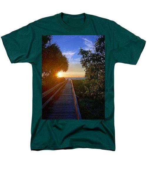Sunset At The End Of The Boardwalk Men's T-Shirt  (Regular Fit)
