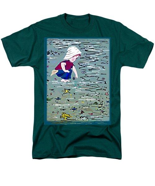 Boy On Beach Men's T-Shirt  (Regular Fit)