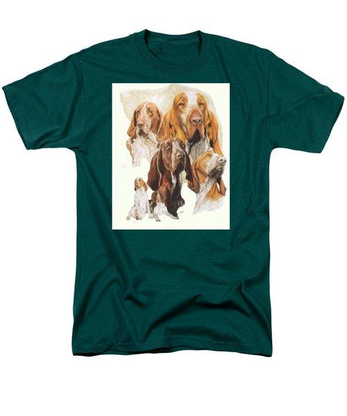 Bracco Italiano W/ghost Men's T-Shirt  (Regular Fit) by Barbara Keith