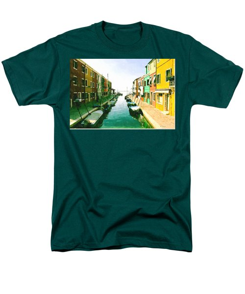 Men's T-Shirt  (Regular Fit) featuring the digital art Burano Venice by Kai Saarto