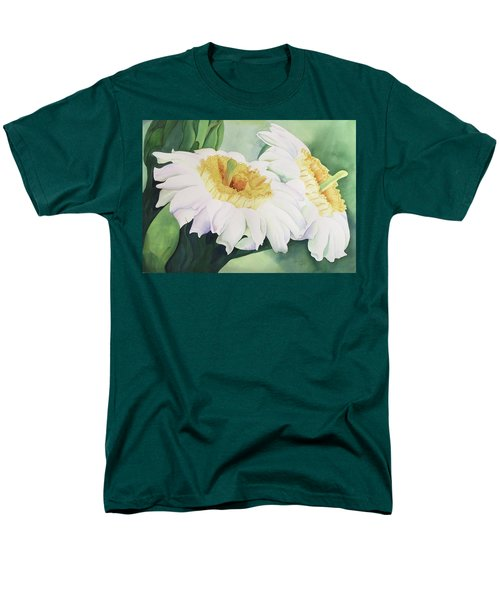 Cactus Flower Men's T-Shirt  (Regular Fit) by Teresa Beyer