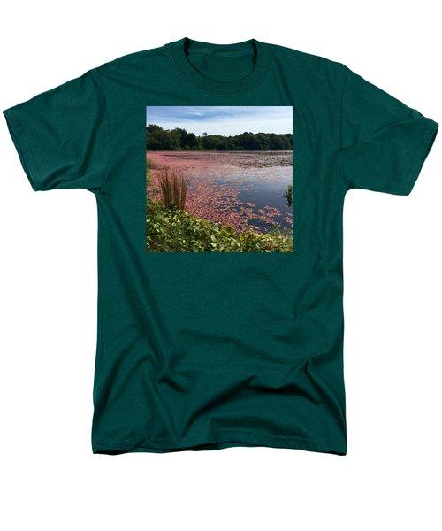 Cape Cod Cranberry Bog Men's T-Shirt  (Regular Fit) by Beth Saffer