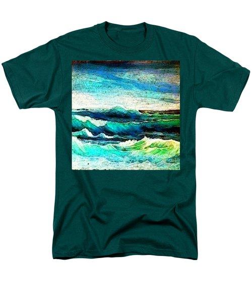 Caribbean Waves Men's T-Shirt  (Regular Fit) by Holly Martinson