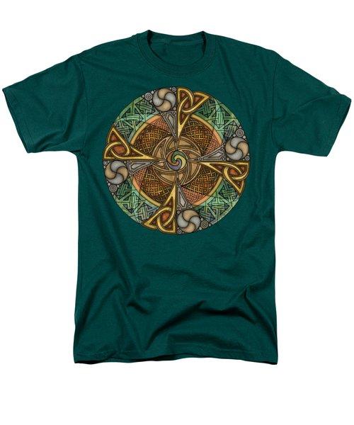 Celtic Aperture Mandala Men's T-Shirt  (Regular Fit) by Kristen Fox