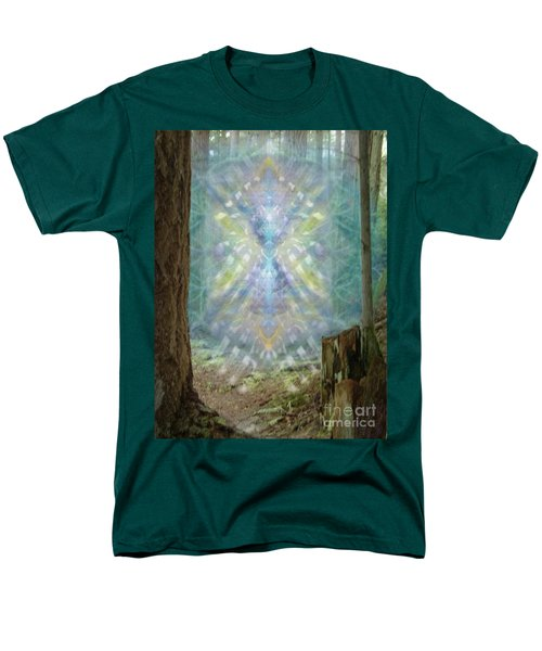 Men's T-Shirt  (Regular Fit) featuring the digital art Chalice-tree Spirt In The Forest V2 by Christopher Pringer