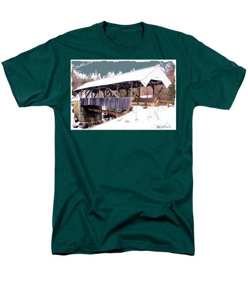 Men's T-Shirt  (Regular Fit) featuring the digital art Chamberlain Bridge by John Selmer Sr